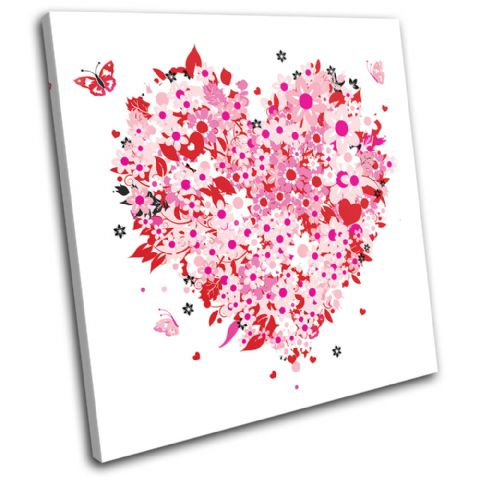 Floral Heart Pink Love - 13-0043(00B)-SG11-LO